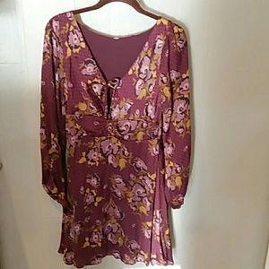 NWT Free people purple boho chic dress size 4
